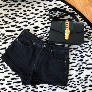 H&M Black Denim Shorts